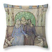 Zittend Paar Throw Pillow