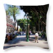 Zocalo Puebla 3 Throw Pillow