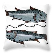Zodiac: Pisces, 1482 Throw Pillow