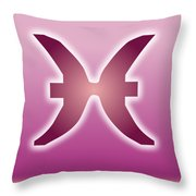 Pisces February 18 - March 20 Sun Sign Astrology  Throw Pillow