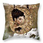 Zodiac Signs - Taurus Throw Pillow