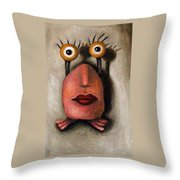 Zoe 1 Little Alien Throw Pillow