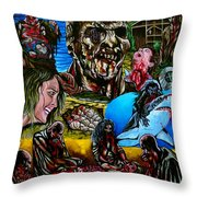 Zombi 2 Throw Pillow