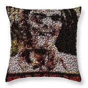 Zombie Bottle Cap Mosaic Throw Pillow by Paul Van Scott