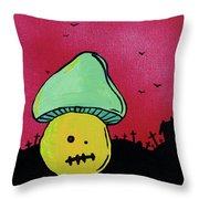 Zombie Mushroom 2 Throw Pillow