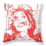 Zombie Music Throw Pillow