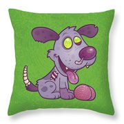 Zombie Puppy Throw Pillow by John Schwegel
