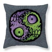 Zombie Yin-yang Throw Pillow by John Schwegel