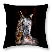Zombified Horse Throw Pillow