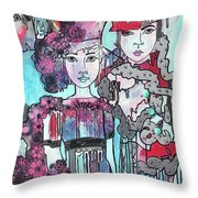 Zoni.girl Haute Couture Throw Pillow