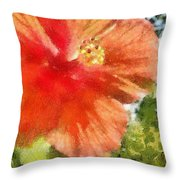 Zoo Flower Throw Pillow