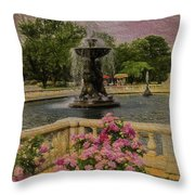 Zoo Fountain 2 Throw Pillow