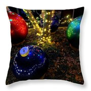 Zoo Lights Ornaments Throw Pillow
