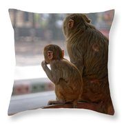 Zoo Reverse Throw Pillow