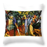 Zoological Garden Throw Pillow