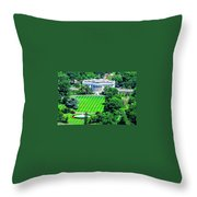Zoomed In Photo Of The White House Throw Pillow