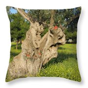 Zoomorphical Olive Throw Pillow