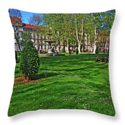 Zrinski Park Throw Pillow