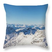 Zugspitze Observatory Panorama Throw Pillow