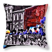 Zulu Krewe In Red And Blue Throw Pillow
