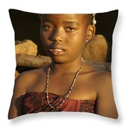 Zulu Princess Throw Pillow