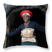 Zulu Woman Throw Pillow