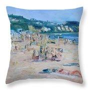 Zuma Beach Throw Pillow