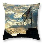 Zurich Griffin Flag At Sunset Throw Pillow