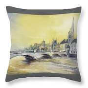 Zurich Sunset- Switzerland Throw Pillow
