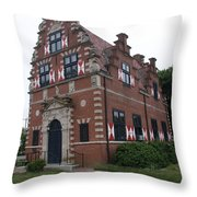 Zwaanendael Museum Throw Pillow