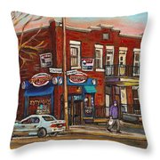 Zytynsky's Deli Rosemont Montreal Throw Pillow
