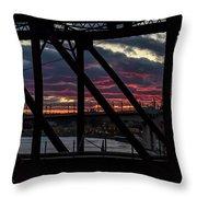 008 - Trestle Sunset Throw Pillow
