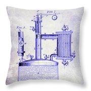 1878 Beer Boiler Patent Blueprint Throw Pillow