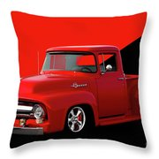 1956 Ford F100 Stepside Pickup Throw Pillow