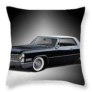 1966 Cadillac Coupe Deville Throw Pillow