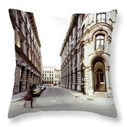 360 Degree View Of A City, Montreal Throw Pillow