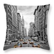 5th Avenue Nyc Traffic Throw Pillow