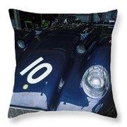 A 1950's Lister Jaguar Race Car Throw Pillow