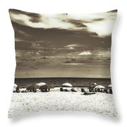 A Day On The Jersey Shore Throw Pillow