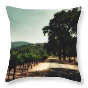 A Drive Through Napa Valley Throw Pillow