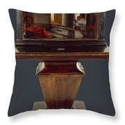 A Peepshow With Views Of The Interior Of A Dutch House  Throw Pillow