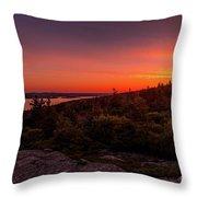 Acadia National Park Sunrise  Throw Pillow