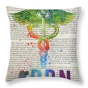Advanced Practice Registered Nurse Gift Idea With Caduceus Illus Throw Pillow