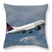 Air Canada Boeing 777-233 Lr Throw Pillow