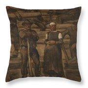 Albin Egger-lienz 1868 - 1926 The Ages Of Life Throw Pillow