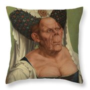 An Old Woman  The Ugly Duchess   Throw Pillow