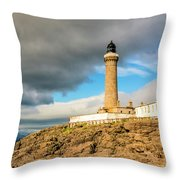 Ardnamurchan Point Lighthouse In Portrait Format. Throw Pillow