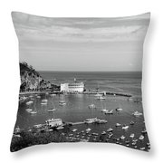 Avalon Harbor - Catalina Island, California Throw Pillow