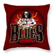 Bad Luck Blues Throw Pillow