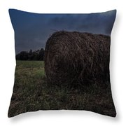 Round Bale 2 Throw Pillow